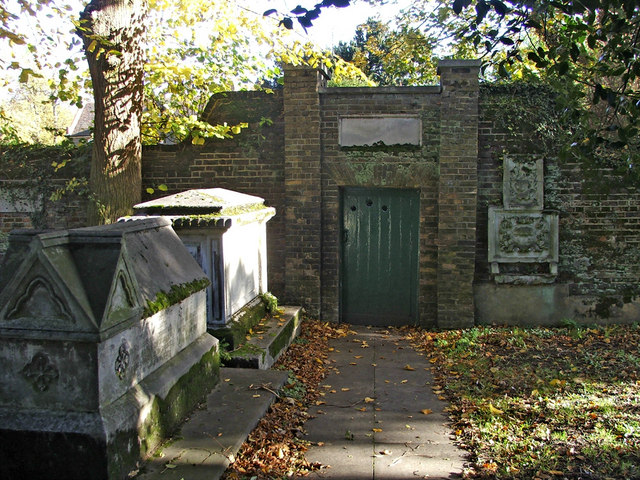 Doorway leading from Graveyard to the Vicarage, St Andrew's Church, Enfield