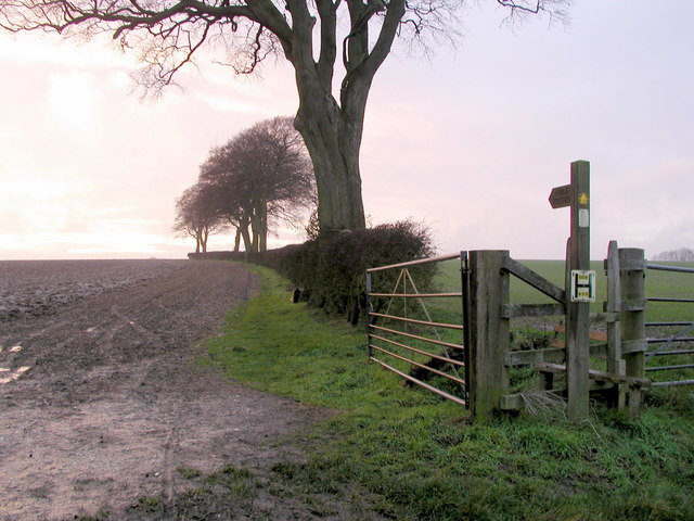 Footpath to South Cave from Weedley