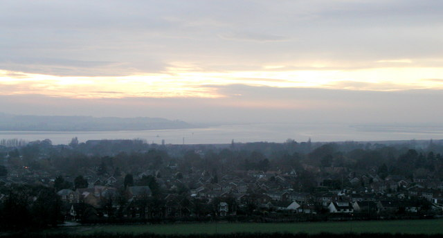 The view over the River Humber from Elloughton Hill