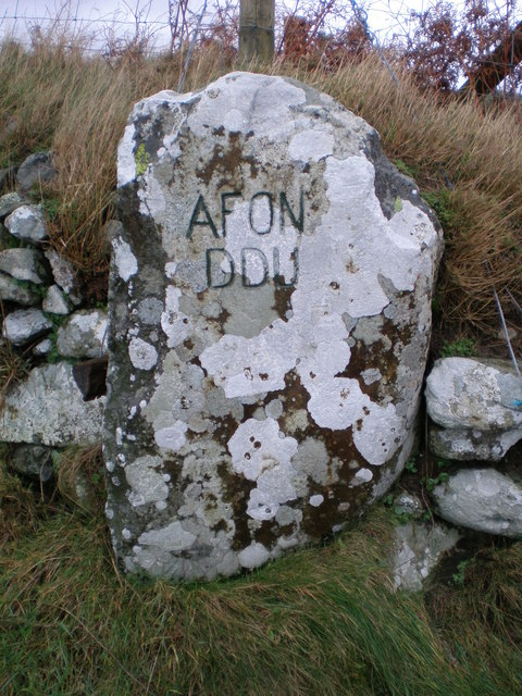 Afon Ddu entrance.