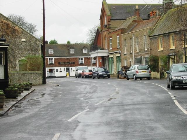 View along Church Street to The Bell Inn, Minster.