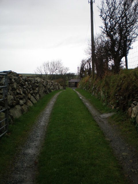 Lane to Rhiwfelen.