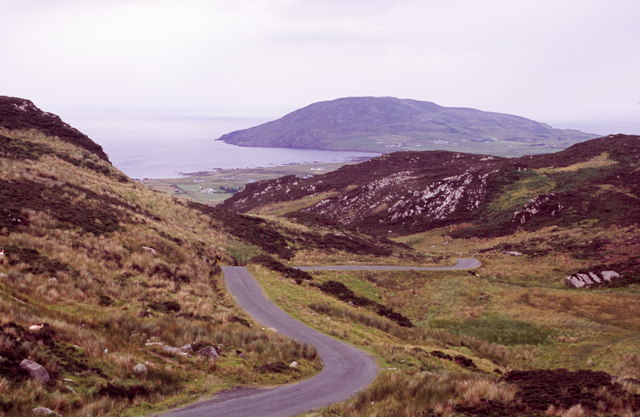 Road down the north side of Gap of Mammore