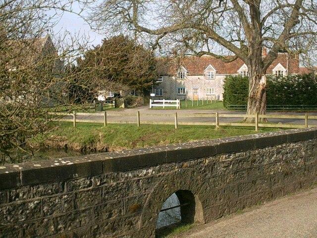 West Lydford. Bridge over River Brue