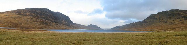 Lochan na h-Earba panorama