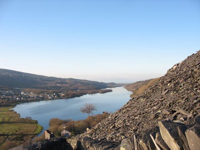Llyn Padarn from the Llwybr Main footpath