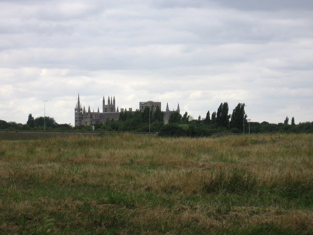 Across Flag Fen to Peterborough Cathedral
