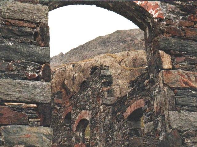 The Britannia Copper Mine crusher building