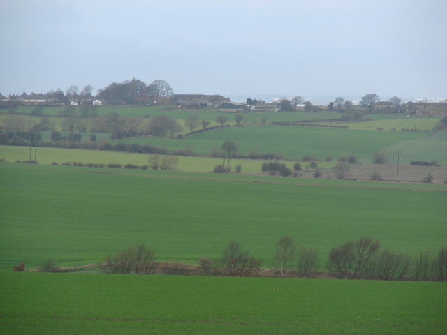 View over farm land between Hemsworth & Kinsley