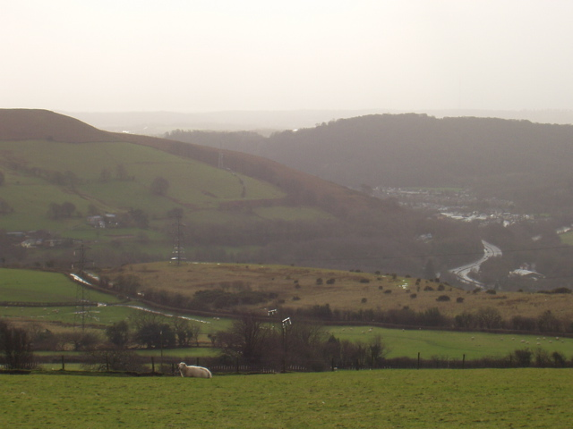 Hillside overlooking Taff Valley