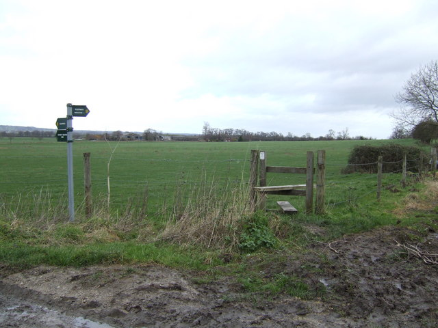 Footpaths and stile