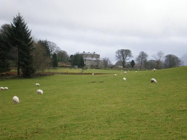Rear view of Nannau Hall