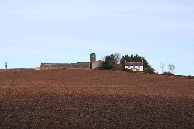 Barnyards Farm to the north of Delgaty Castle.