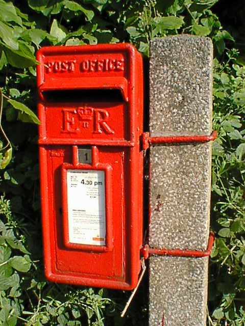 Postbox at Entrance to Ogston Sailing Club
