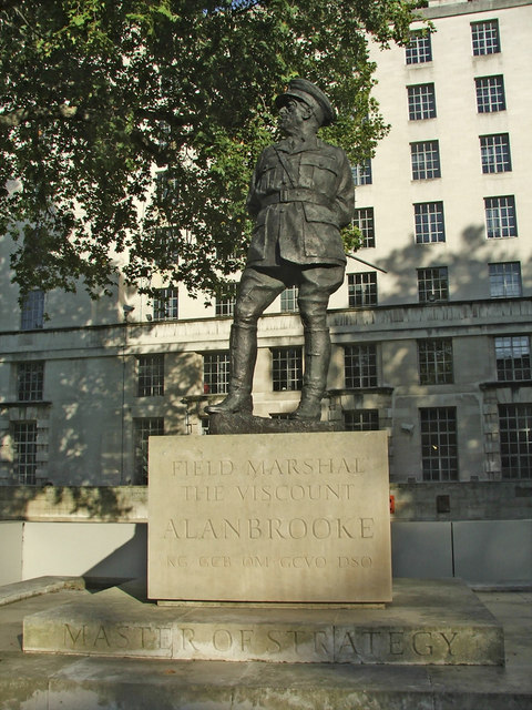 Statue of Field Marshal the Viscount Alanbrooke, Whitehall, London