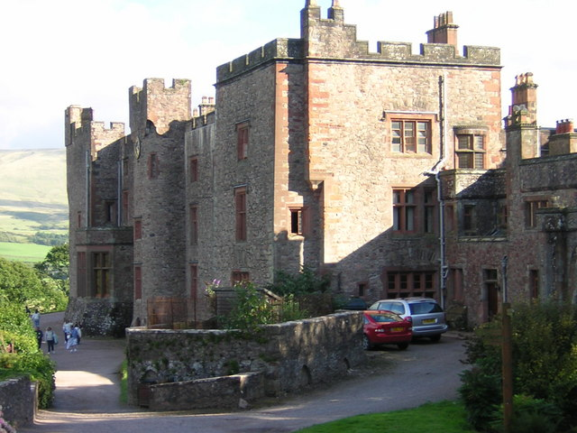 Muncaster Castle to rear