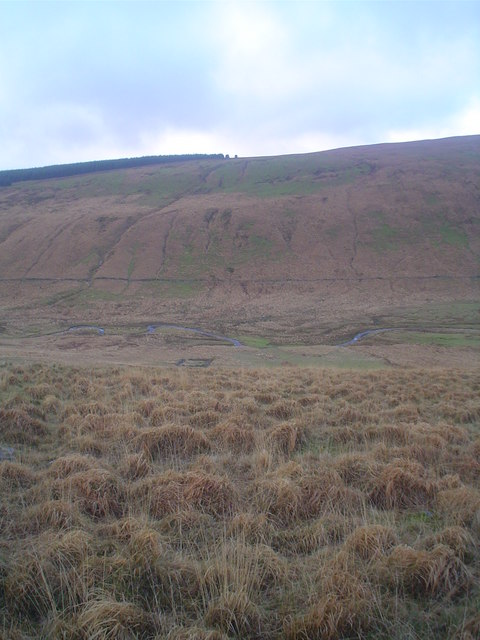 Meandering course of the upper Nedd Fechan