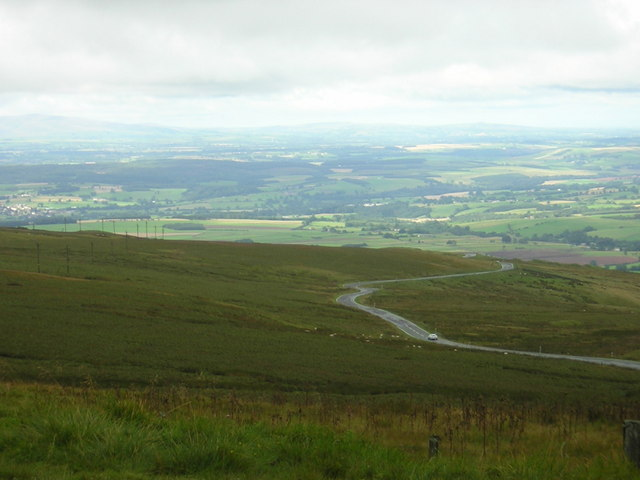 Hartside Summit viewpoint looking West towards Lake District