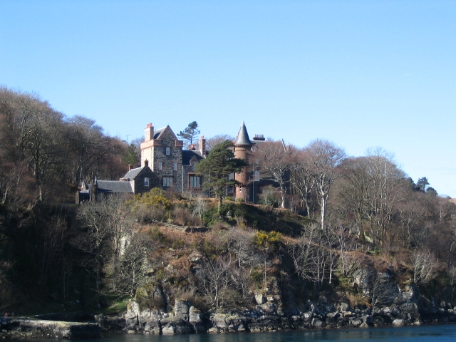 Dunlossit House from ferry coming into Port Askaig