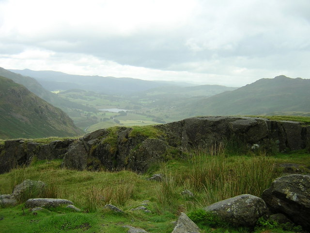 Hardknott Pass towards Eskdale