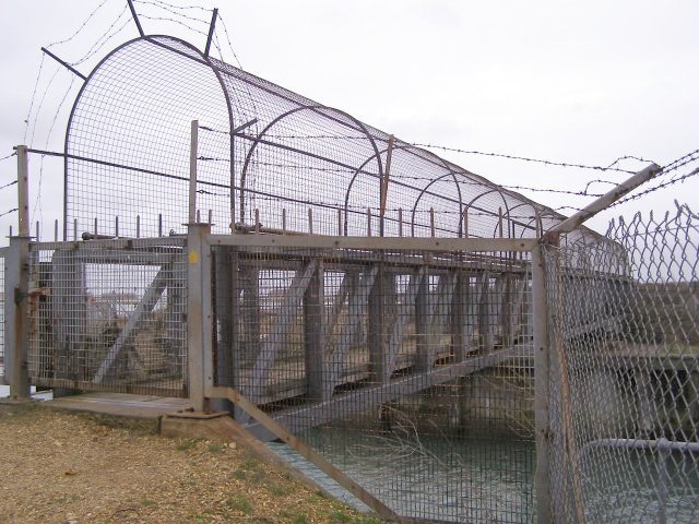 Swingbridge across Fawley power station dock