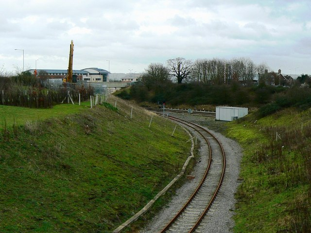 Rail spur into Keypoint distribution centre, South Marston, Swindon