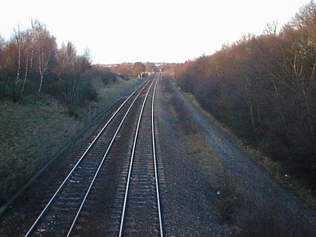 Padley Wood Bridge view towards Pit Lane (Danesmoor)