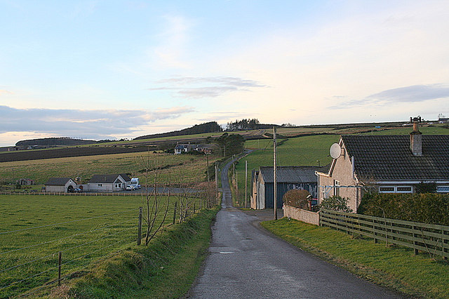 The road running by North Redbriggs.