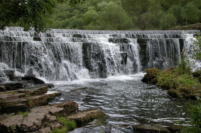 Weir on the River Wye, Monsal Dale