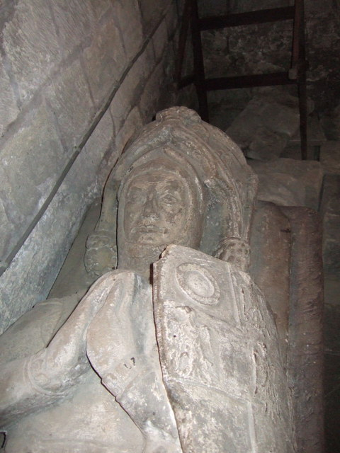 Figure of knight, St Lawrence's church, Warkworth