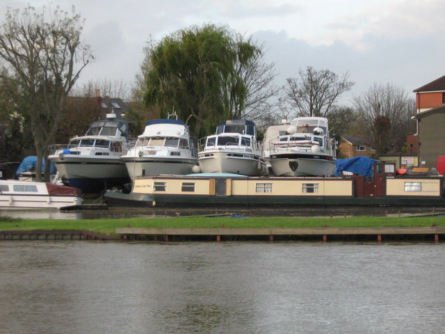 Boats moored on the Thames