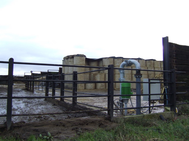 Bale storage area by Colleymore Farm