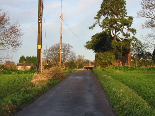 Looking towards Woodnesborough along small road.
