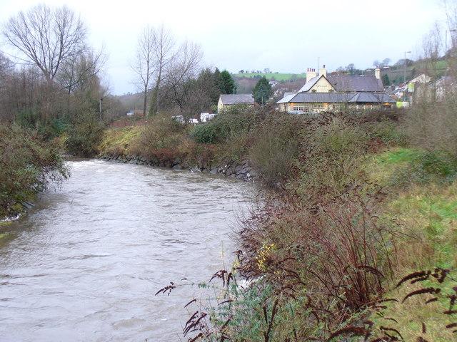 Upstream Rhymney from the Bridge, Machen