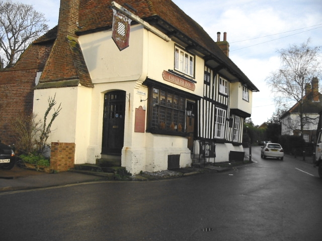 The Chequer Inn, at junction of Chequer Lane and The Street, Ash.
