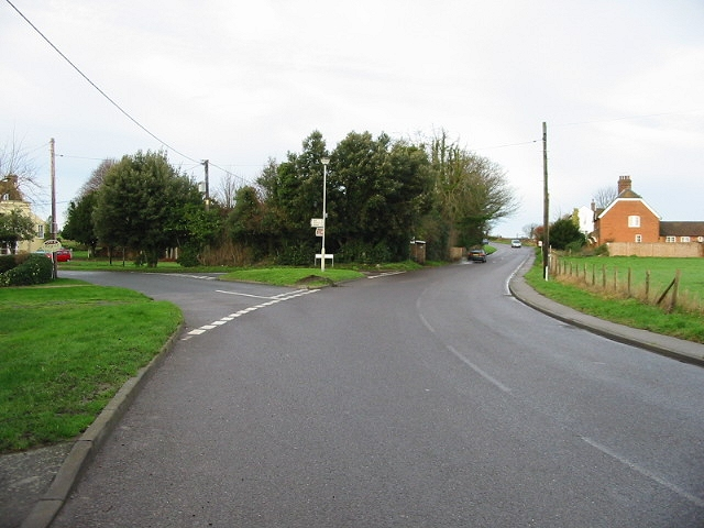 Junction of Guilton and Durlock Road, Ash