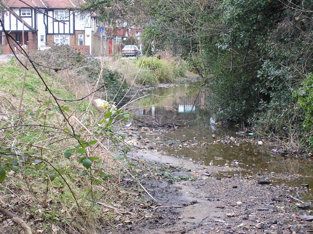 River Wandle alongside Mill Lane