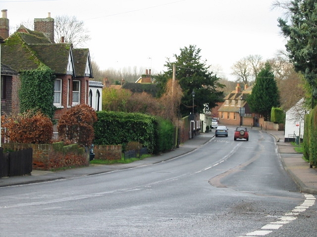 Looking SW into Wingham from junction of Preston Hill