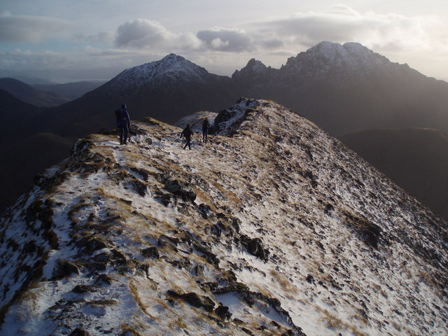 Winter Walk Marsco Summit