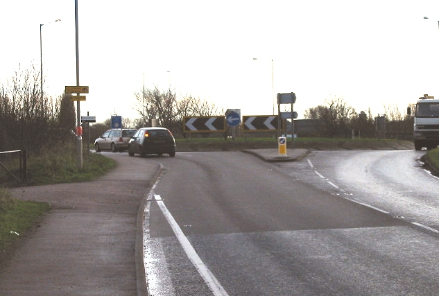 Roundabout where the A257 and A256 meet.