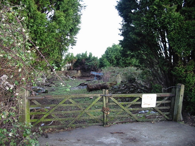 Derelict building and waste ground