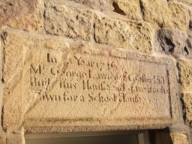 Inscription on Old School House, Warkworth