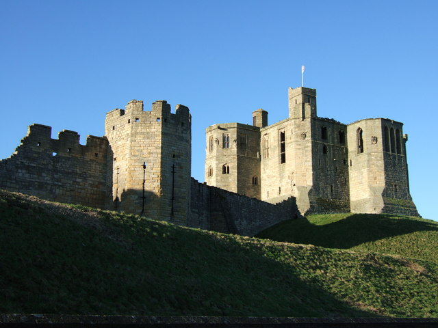 Grey Mare's Tail Tower and the Keep, Warkworth Castle