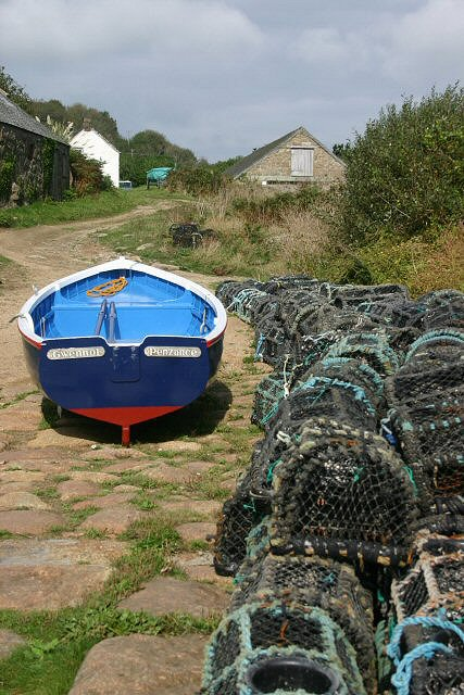 Lobster pots at Penberth Cove