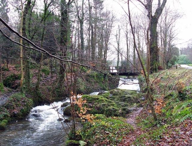 Waterfall at Finlaystone Estate