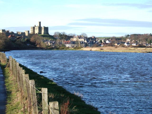 Warkworth from downstream