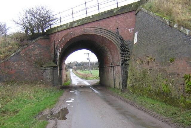 Ings Road Railway Bridge looking towards Kirton-in-Lindsey