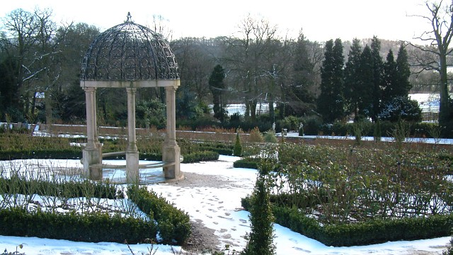 Restored walled garden at Hopton Hall, Derbyshire