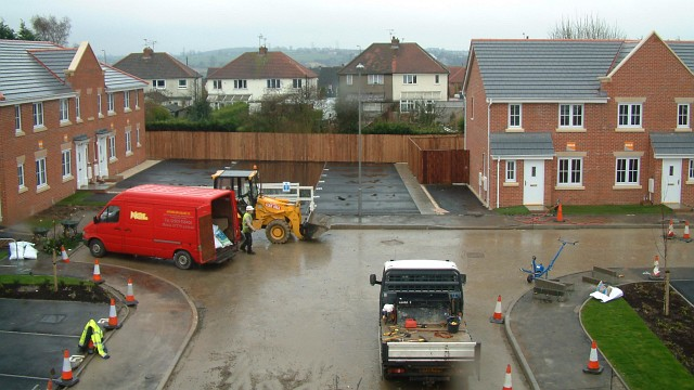 Housing Association development in North Wingfield