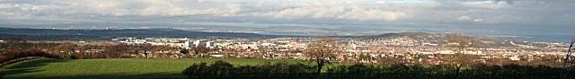 West Edinburgh from near Torphin Quarry